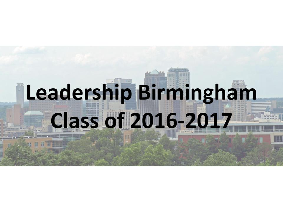 Birmingham's 2016-2017 Leadership Class Announced