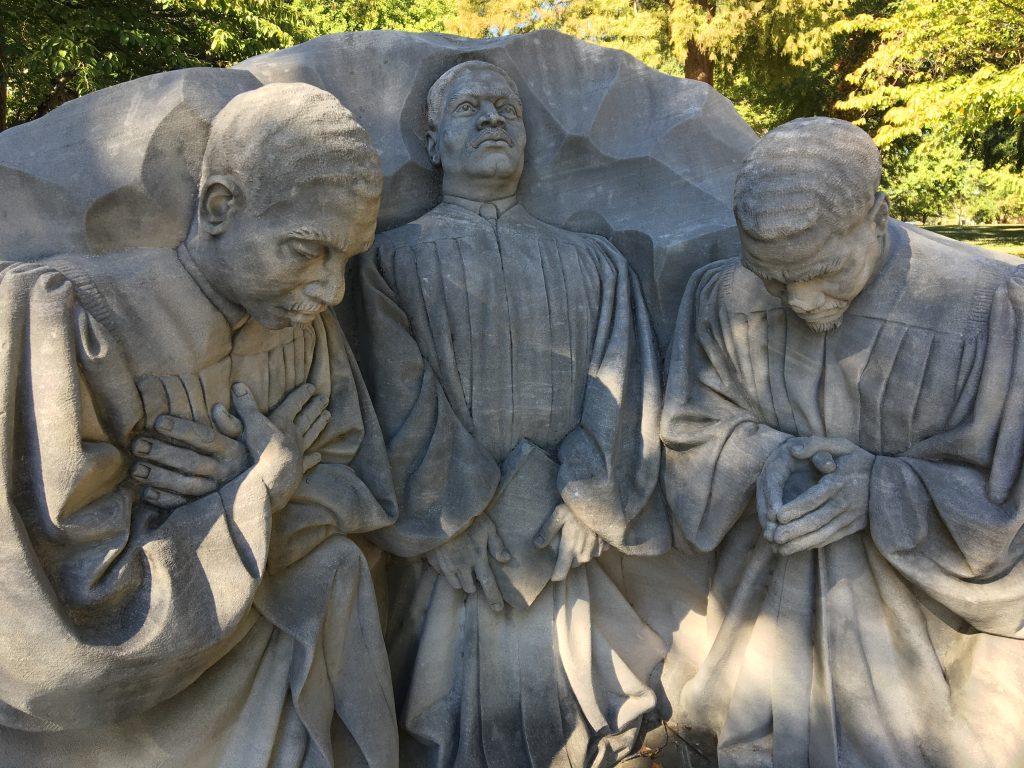 Statue Of Three Pastors At Kelly Ingram Park In Birmingham, Alabama