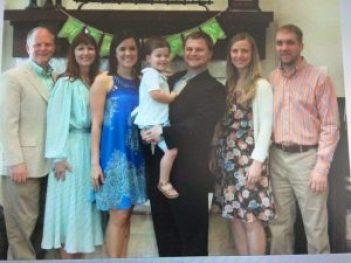 The founding family - Left: Brad, Cheri, Maggie, John, Jennifer, Cale
