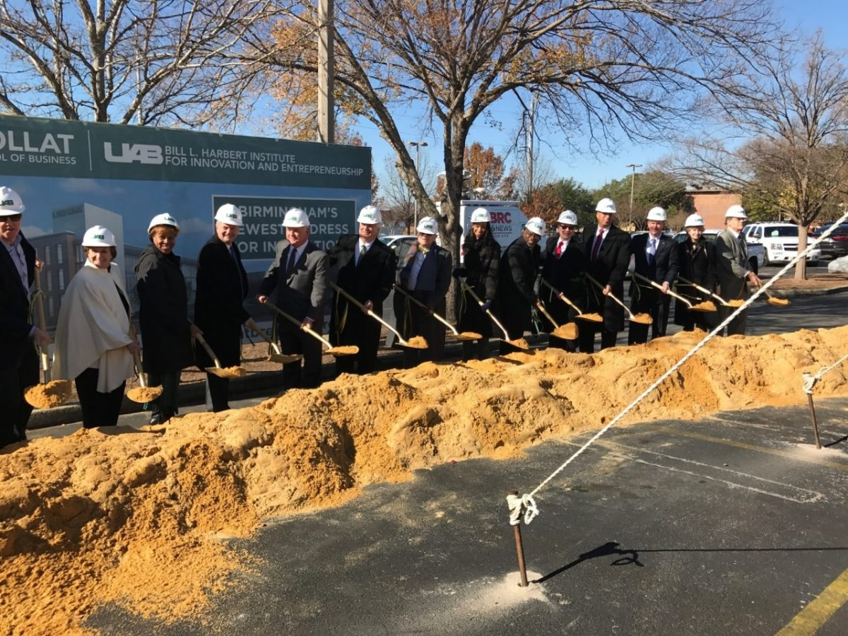 Collat School of Business breaks ground on new facility this morning