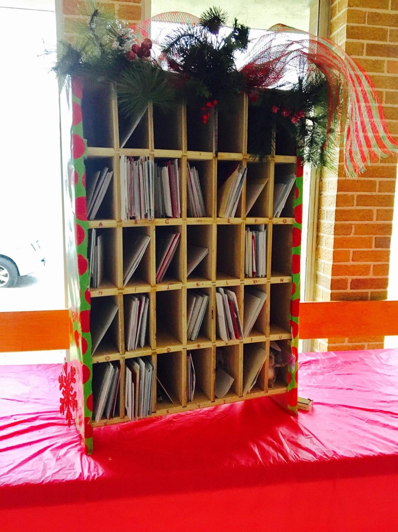 a simple mailbox sharing christmas joy at st john a m e church st john a m e church s postal slots