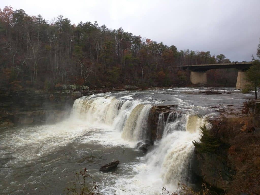 Little River Falls is now raging – see the difference since October
