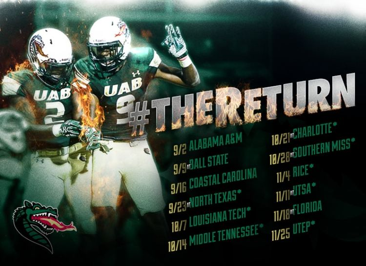 Football Returns UAB Schedule
