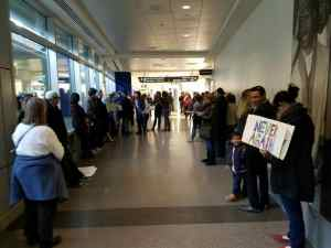 Immigration, protest, trump, birmingham, international, airport, shuttles worth
