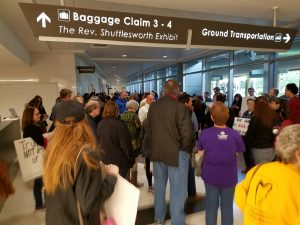 Gathering, Birmingham International Airport, Trump Immigration Policy