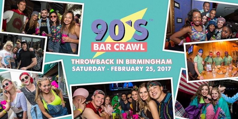 90's Bar Crawl Birmingham AL