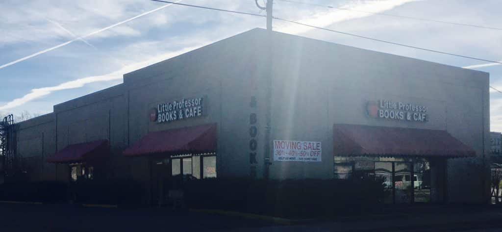 """The sun sets on the old Little Professor Bookstore this week – learn where they will """"comeback"""" in two weeks"""