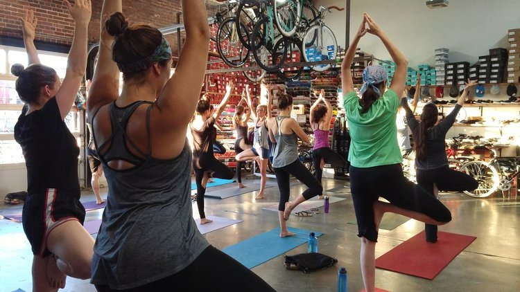 Redemptive Cycles Yoga classes on Mondays