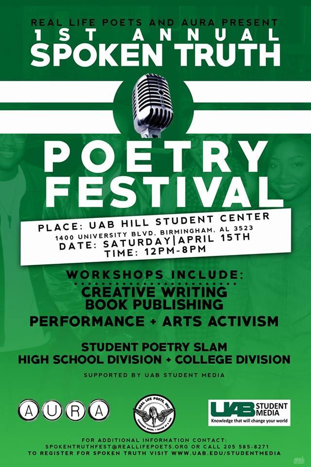Spoken Truth Poetry Festival Birmingham AL UAB Real Life Poets Inc