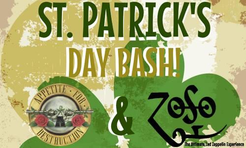 St. Patrick's Day Bash Zoso & Appetite for Destruction in Birmingham AL Avondale BRewing Company