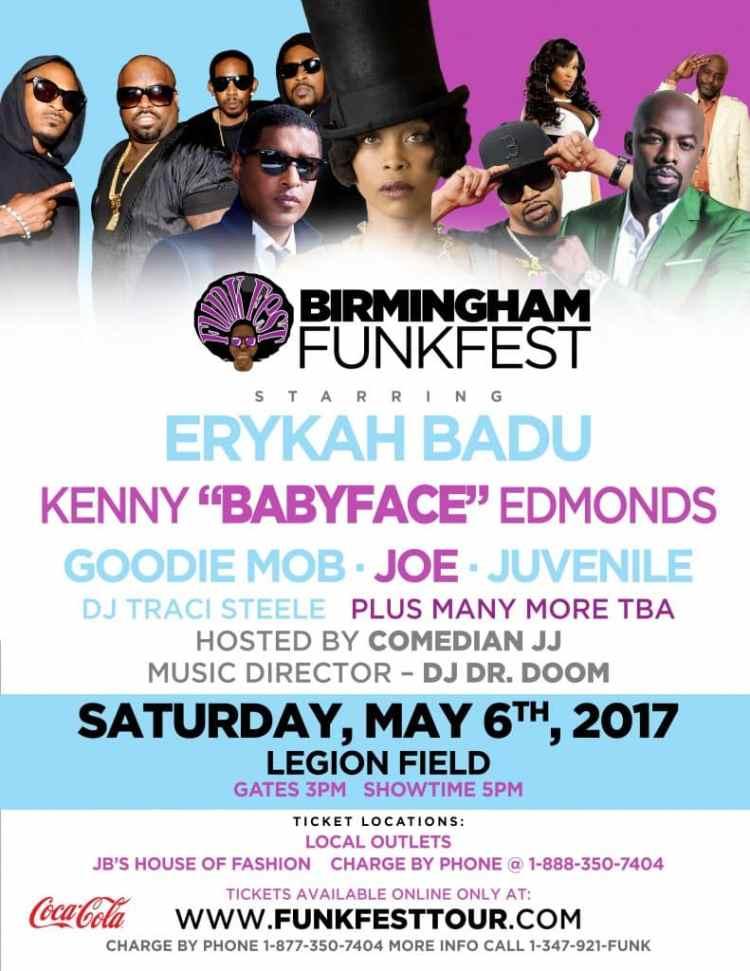 Birmingham Funkfest Spring Festivals Alabama