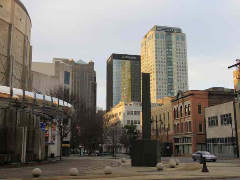 City view: McWane, Regions & Wells Fargo