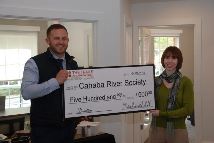 Check presented to Cahaba River Society