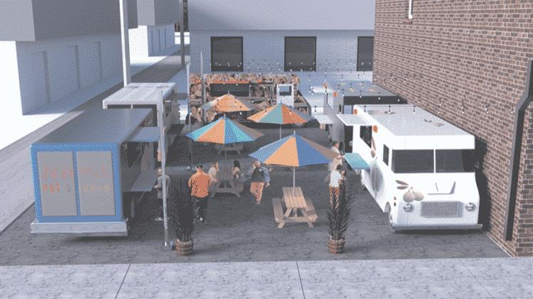 Birmingham's first food truck park rendering