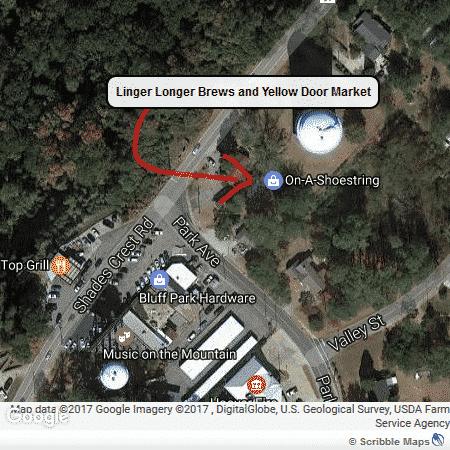 Linger Longer Brews, Yellow Door Market at Bluff Park