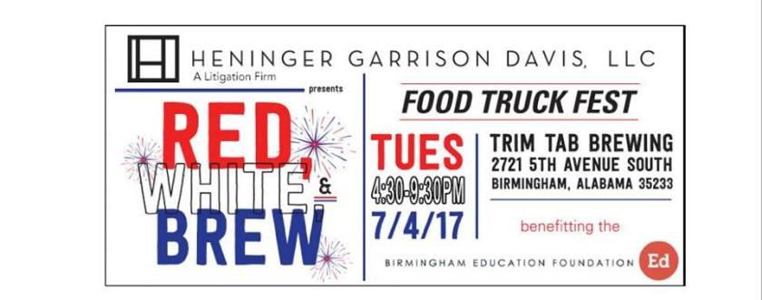 Red White and Brew Trim Tab Company Birmingham AL