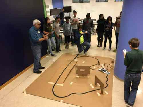 Teens Engineer BHM at Birmingham Public Library learning STEM disciplines.