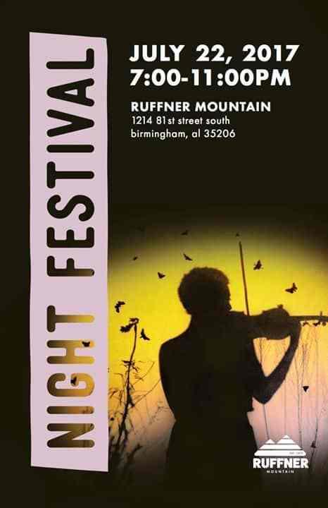 Birmingham AL Bham Now Night Festival Ruffner Mountain Top Thing To Do Bham Now