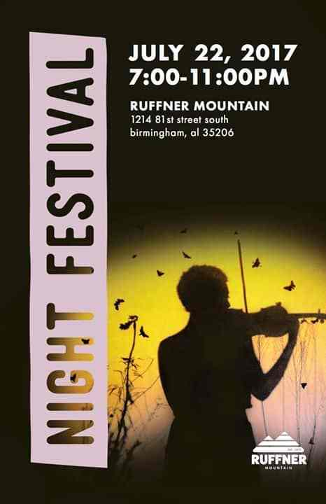 Birmingham AL Bham Now Night Festival Ruffner Mountain Top Thing To Do Bham Now