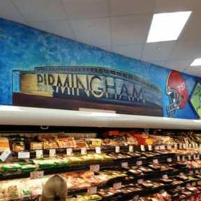 Image may include: Birmingham mural at Trader Joe's