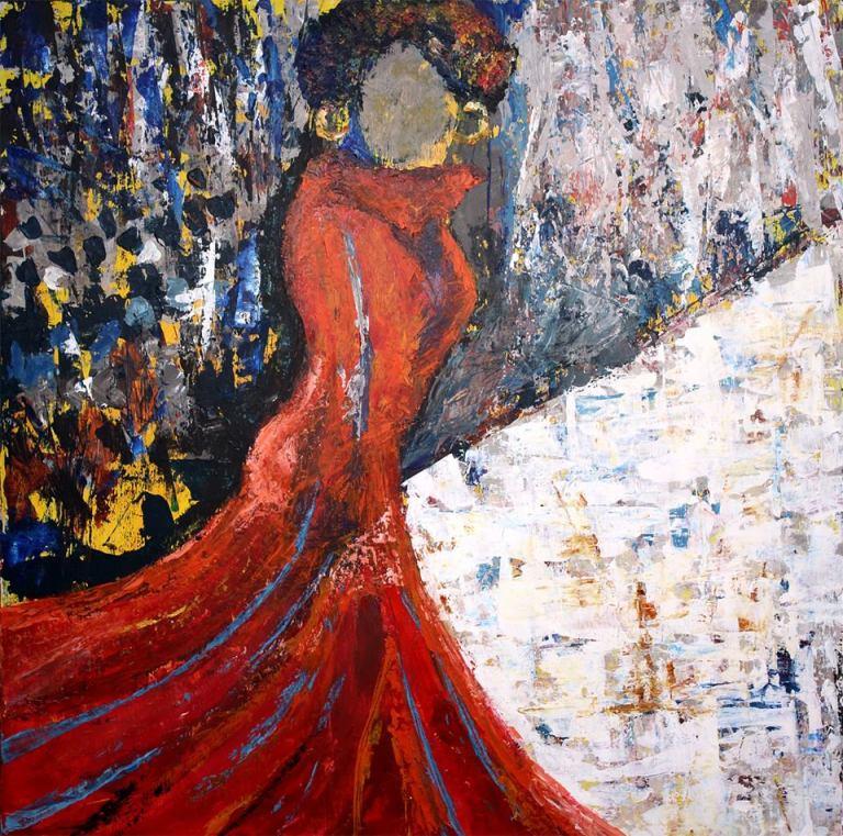 Painting, Birmingham artist, Portia Williams, art, North Jefferson Arts Alliance
