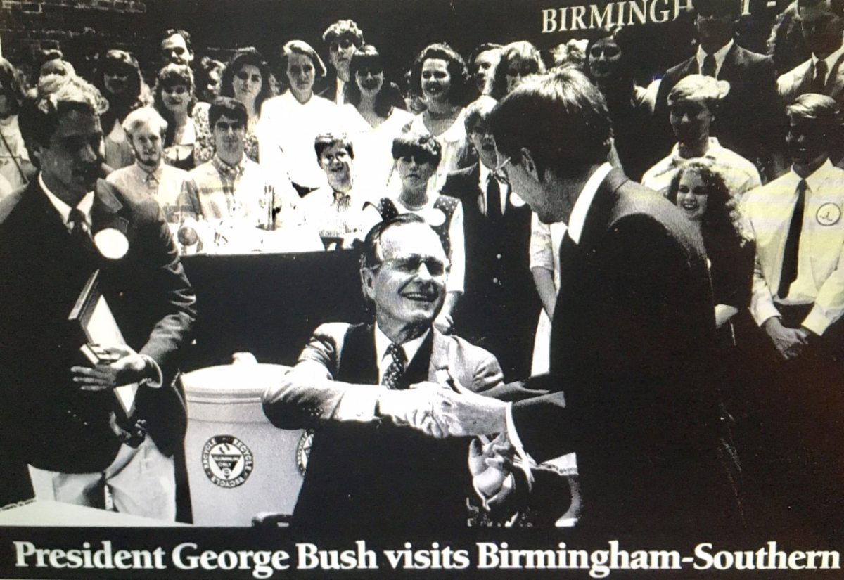 A point of light: Remembering President George H.W. Bush's visit to Birmingham-Southern College