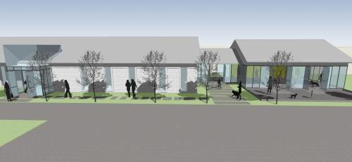 Hand in Paw new building plan