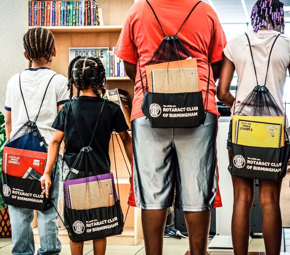 Don't miss The Rotaract Club of Birmingham school supplies giveaway