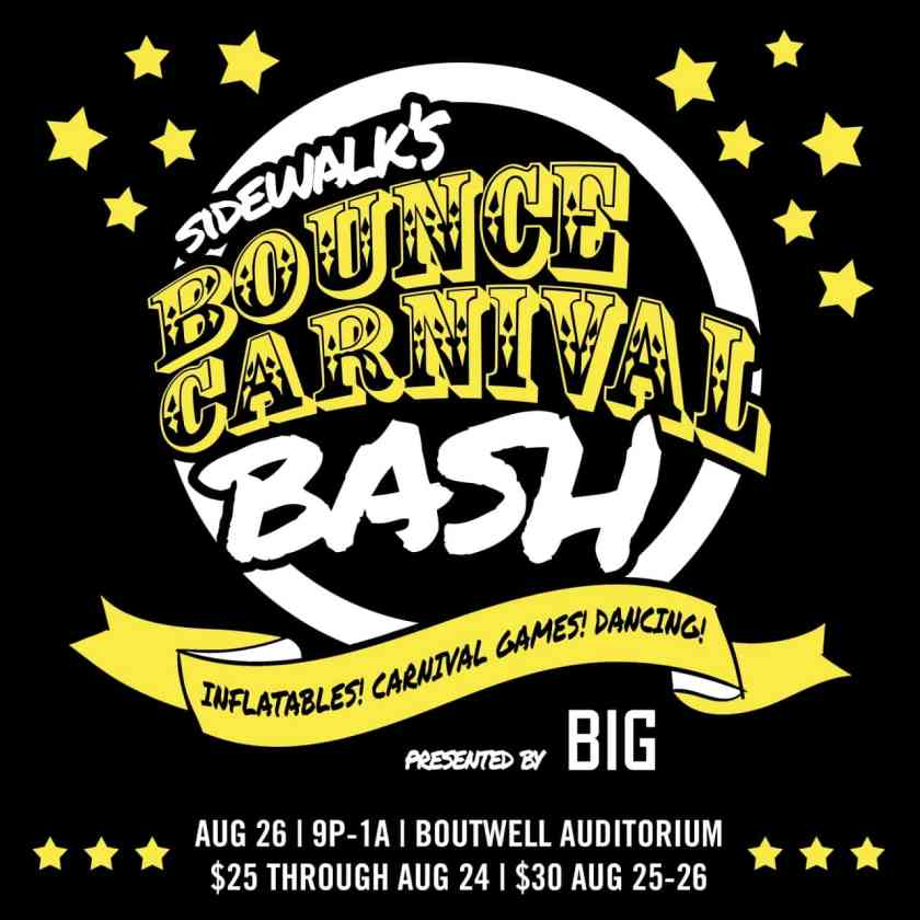 Win a pair of FREE tickets to Sidewalk's Bounce Carnival Bash