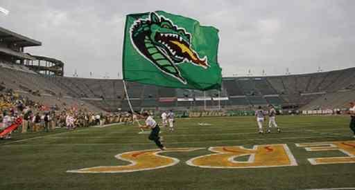 UAB Blazer flag on the football field!