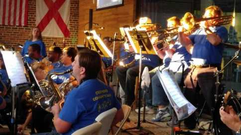 Crestwood Community Band performing at Cahaba Brewing