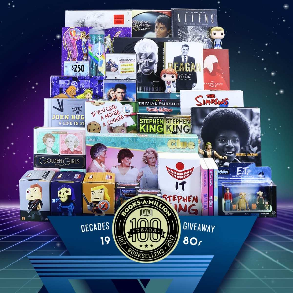 Enter by Sept. 24th to win a $1000 Books-A-Million '80's Decades Giveaway