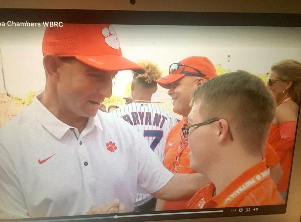 Dabo Swinney and Jake Pratt – two class acts (must watch videos)