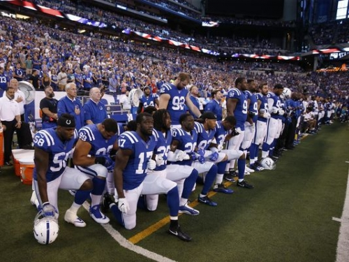NFL, Indianapolis, Colts, take a knee, kneeling, protest