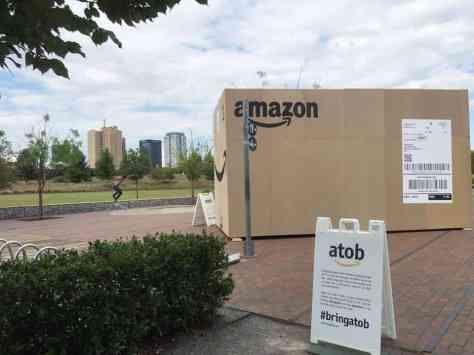 Amazon Box at Railroad Park