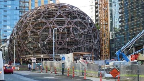 Amazon, headquarters, seattle, dome, Birmigham, Alabama, bid