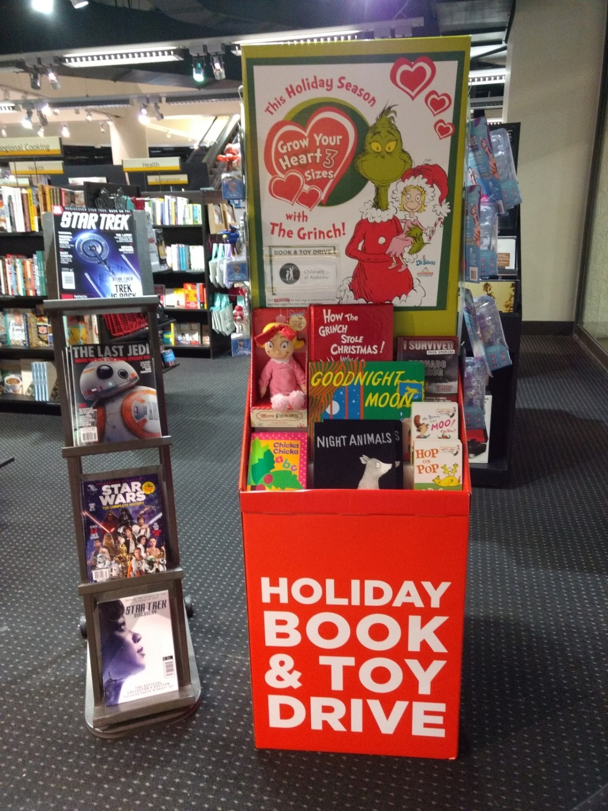 Books-A-Million spreads holiday cheer with book and toy drive for charity