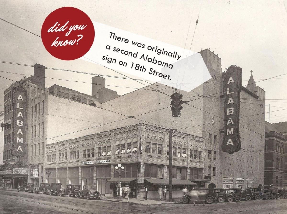 Bring back the 2nd Alabama Theatre sign. Voting ends October 31st.