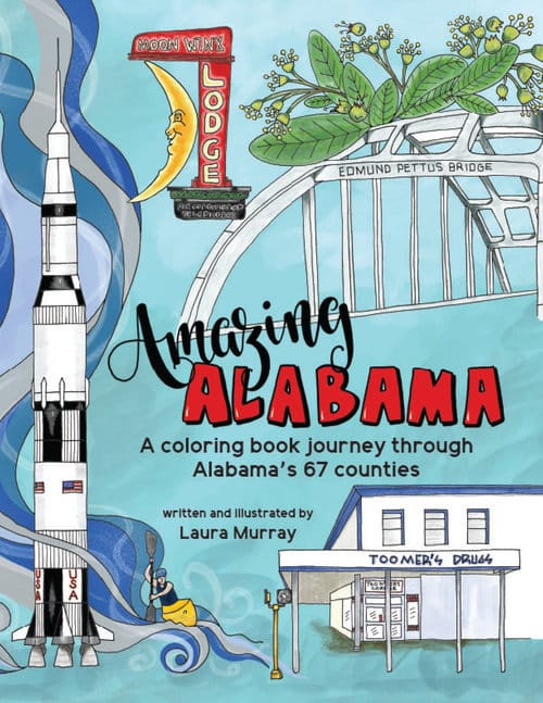 """Get the scoop on Laura Murray's book, """"Amazing Alabama: A Coloring Book Journey Through Our 67 Counties"""""""