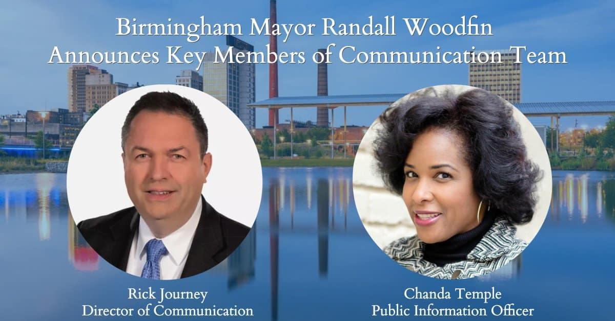 Birmingham Mayor Randall Woodfin adds media personalities to team