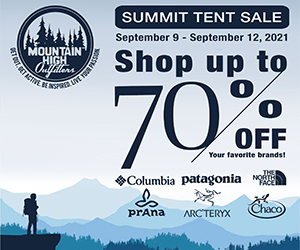 Mountain High Outfitters - Summit Tent Sale
