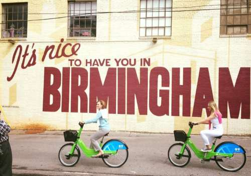 Birmingham, Alabama, It's Nice To Have You, cycling, bikes, mural