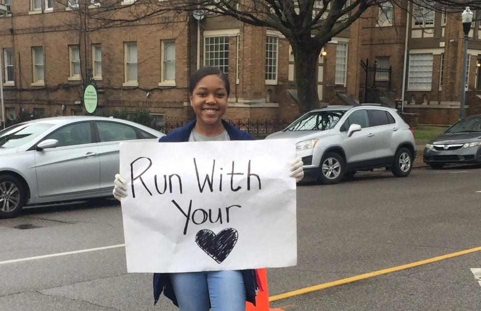 Joyful evangelism at Birmingham Mercedes Marathon cheer stations (photos)