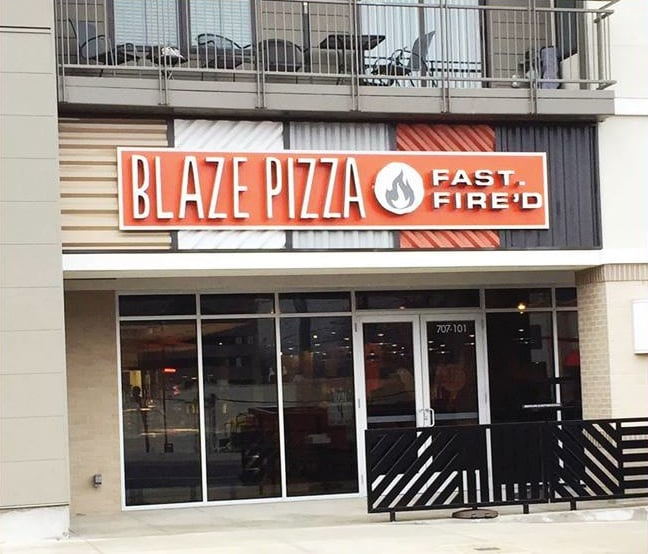 Birmingham, Blaze Pizza, Lebron James, restaurant, food, pizza