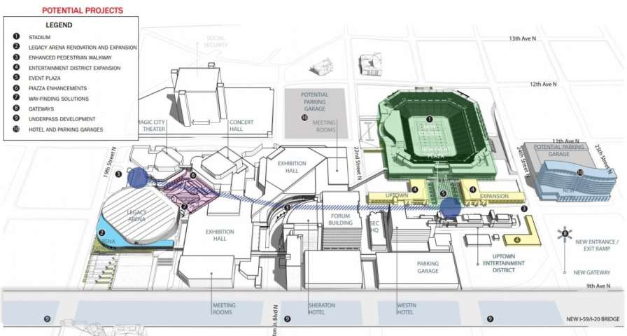 Plans for the BJCC legacy Stadium to be completed before the 2021 World Games. (Rendering submitted)