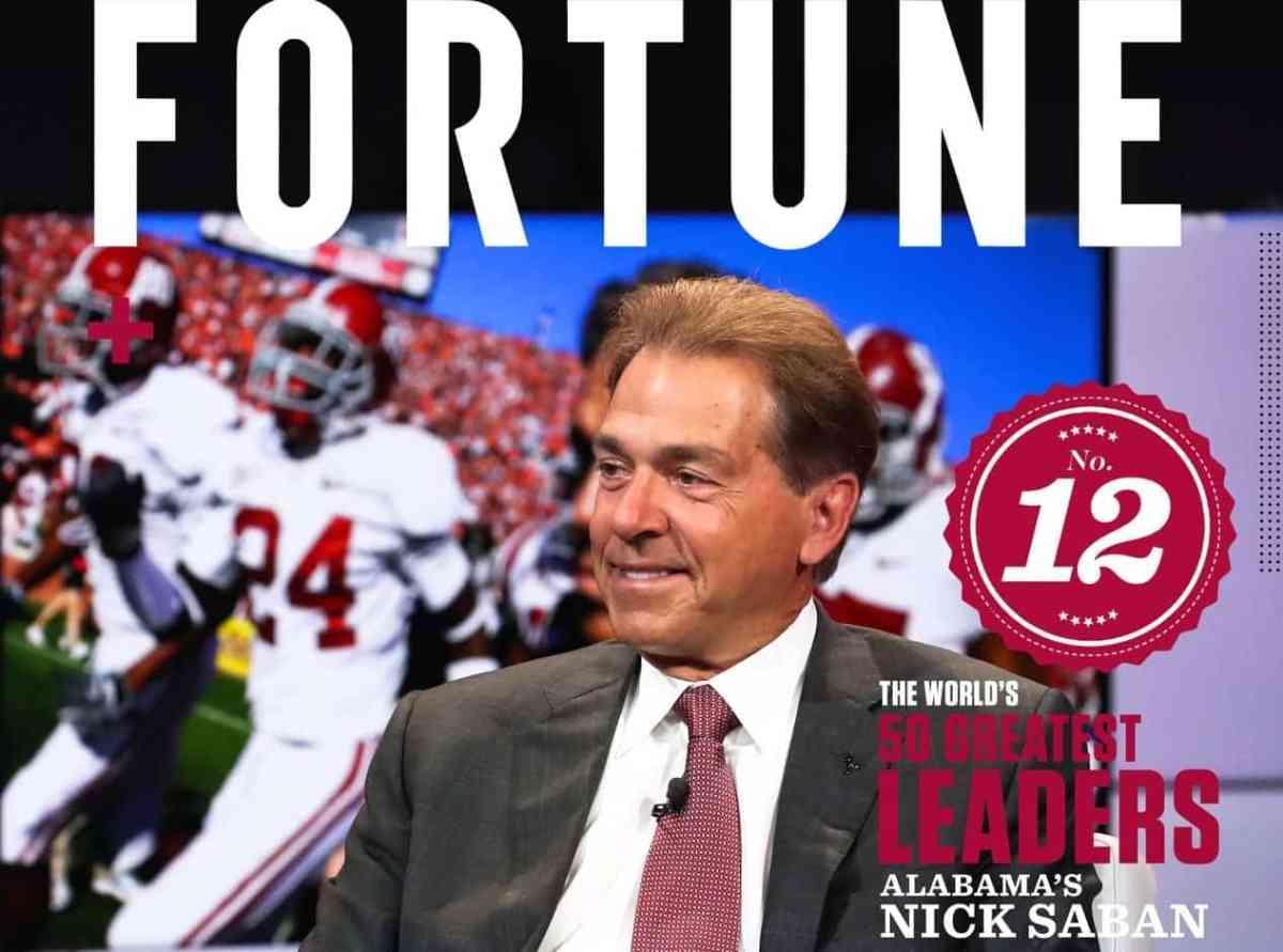 Fortune Magazine names Nick Saban and Tim Cook to World's 50 Greatest Leaders list