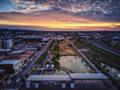 Railroad Park at sunset for Camp-Out
