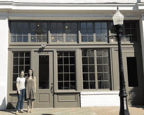 Birmingham, Alabama. Morris Avenue revitalization. Honeycreeper Chocolate and basic. dual storefront. Birmingham retail row