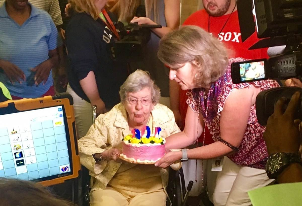Dorothy Levy celebrates her 106th birthday with United Ability, an organization she helped found