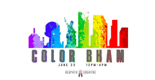 Birmingham Alabama, Marcus Fetch, Murals, Color Wall, Color Bham